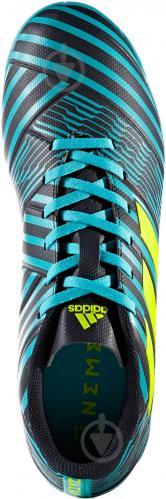 Футбольные бутсы Adidas Nemeziz IN S82472 р. 10 черно-синий с зеленым - фото 7
