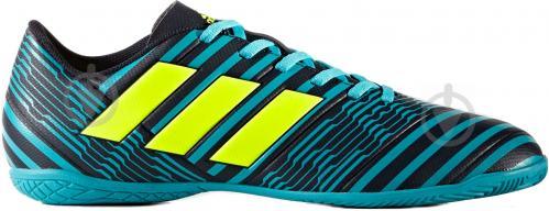 Футбольные бутсы Adidas Nemeziz IN S82472 р. 10 черно-синий с зеленым - фото 9