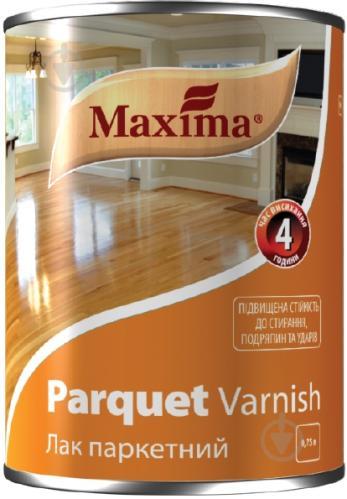 Лак высококачественный паркетный Maxima полумат бесцветный 0,75 л - фото 1