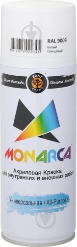 Краска MONARCA аэрозольная универсальная RAL 9003 белый глянец 270 г