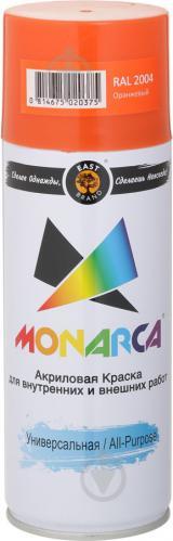 Фарба MONARCA аерозольна універсальна RAL 2004 помаранчевий глянець 520 мл 270 г