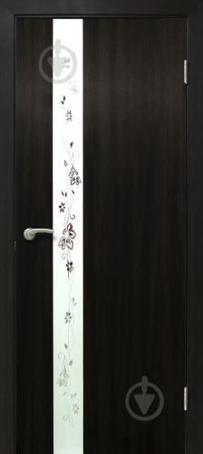 Дверне полотно ПВХ ОМіС Дзеркало 2 800 мм венге