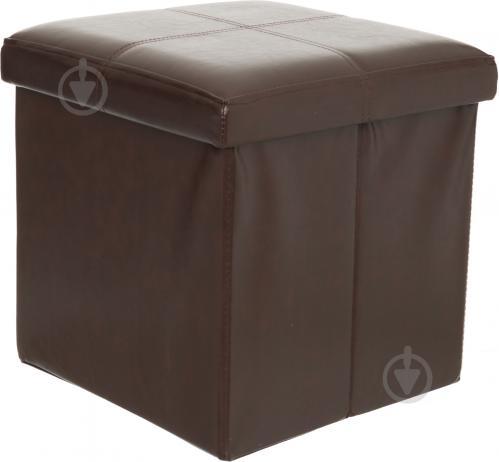 Ящик-пуф складной коричневый 380x380x380 мм - фото 1