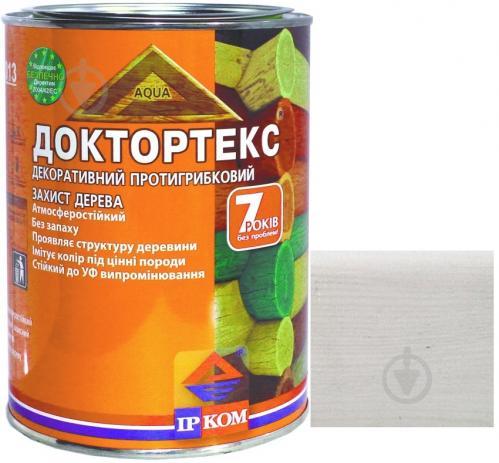 Лазурь ІРКОМ Доктортекс ИР-013 белый шелковистый мат 0,8 л - фото 1
