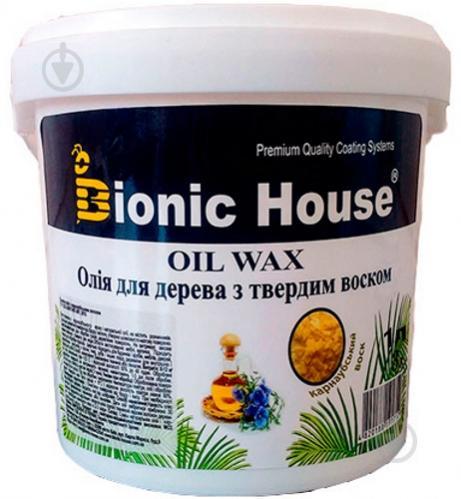 Масло Bionic House Oli wax с карнаубским воском глянец 1 л - фото 1