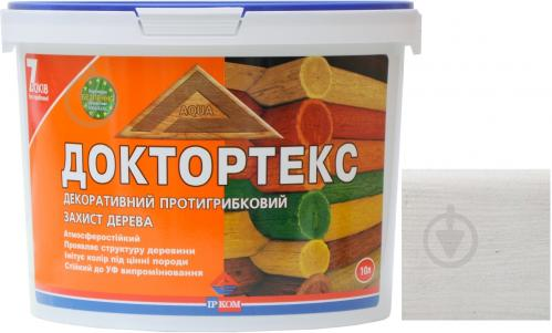 Лазурь ІРКОМ Доктортекс ИР-013 белый шелковистый мат 10 л - фото 1