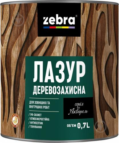 Лазурь ZEBRA Деревозащитная серия Акварель Орех глянец 0,7 л - фото 1