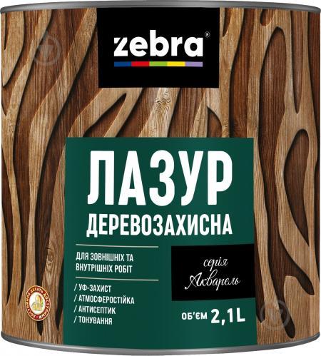 Лазурь ZEBRA Деревозащитная серия Акварель Махагон глянец 2,1 л - фото 1
