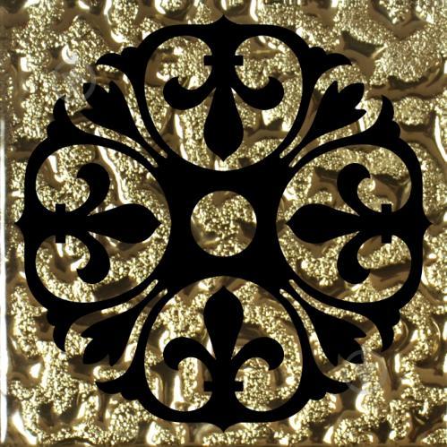 Плитка Grand Kerama Тако скло Бутон золото рифлене 773 6,6x6,6 - фото 1