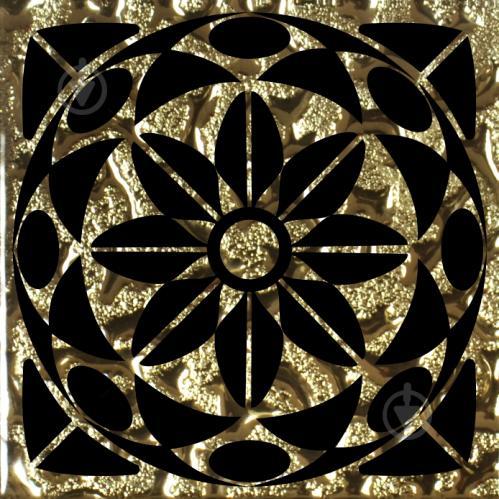 Плитка Grand Kerama Тако скло Леано золото рифлене 777 6,6x6,6 - фото 1