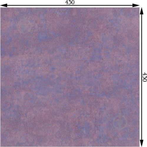 Плитка InterCerama METALICO фиолетовая 89 052 43x43 - фото 3