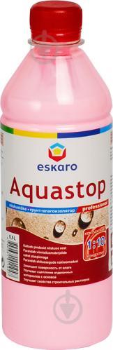 Грунтовка глубокопроникающая Eskaro Aquastop Professional концентрат 1:10 0.5 л
