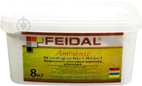 Моделирующая декоративная шпатлевка Feidal Ambiente Wandspachtel Relief 8 кг белый - фото 1