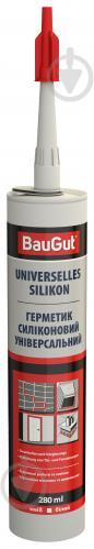Герметик силиконовый BauGut универсальный белый 280 мл - фото 1