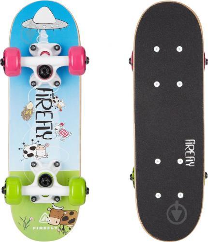 Скейтборд Firefly 414750-900569 SKB 055 синий с зеленым - фото 1