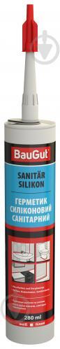 Герметик силиконовый BauGut однокомпонентный белый 280 мл - фото 1