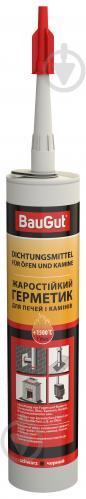 Герметик для печей и каминов BauGut до +1500 °C черный 280 мл - фото 1
