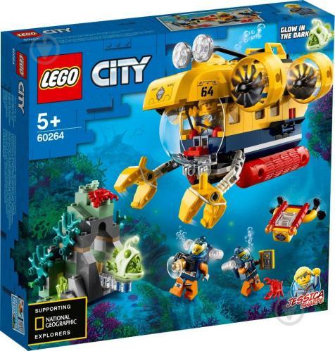 Конструктор LEGO City Океан: исследовательская подводная лодка 60264 - фото 1