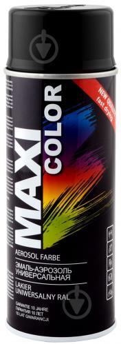 Емаль аерозольна RAL 9005 Maxi Color чорний глянець 400 мл