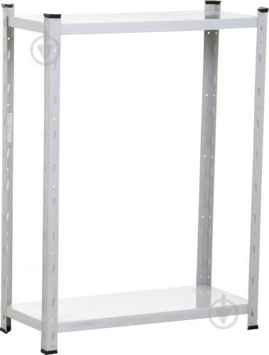 Стелаж металевий побутовий АППОЛО 2 полиці 1000x750x300 мм світло-сірий - фото 1
