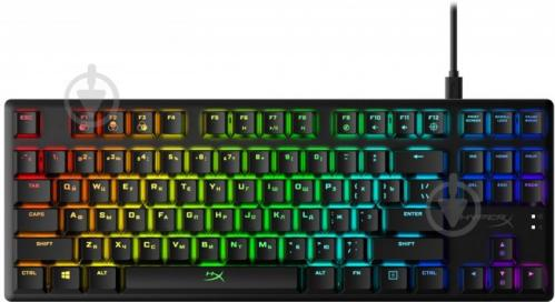 Клавіатура ігрова HyperX Alloy Origins Core USB (HX-KB7BLX-RU) black - фото 1