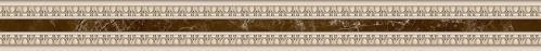 Плитка InterCerama EMPERADOR фриз вертикальний барельєф вузький БУ 66 031 4,5x50 - фото 1
