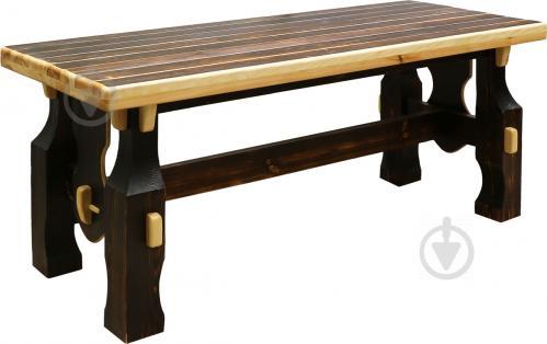Стіл дерев'яний Вижиг 80x200 см коричневий - фото 1