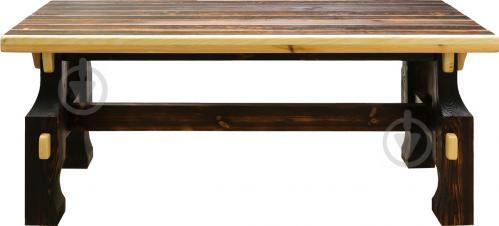 Стіл дерев'яний Вижиг 80x200 см коричневий - фото 2