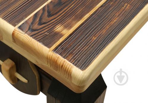 Стіл дерев'яний Вижиг 80x200 см коричневий - фото 3