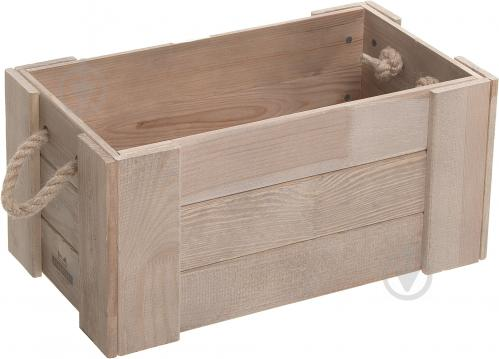 7905bbf94575d ᐉ Ящик деревянный 014 с канатовыми ручками 45x25x21 см • Купить в ...