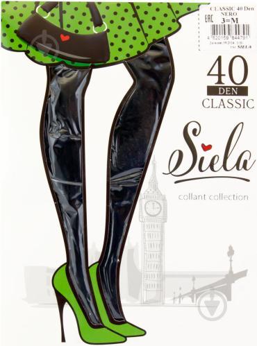 Колготки SIELA CLASSIC 40 den nero р. 3 чорний - фото 1