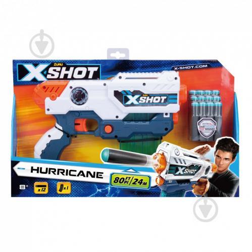 Скорострельный бластер Zuru X-Shot Small Hurricane 36440Z - фото 1