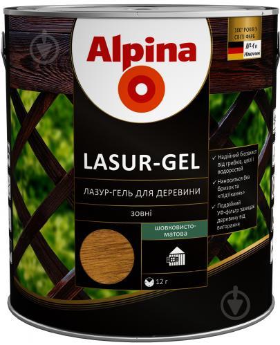 Лазурь Alpina Lasur-Gel махагон шелковистый мат 0,75 л - фото 1