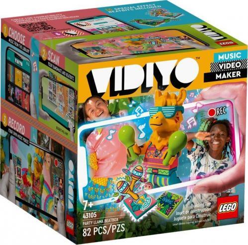 Конструктор LEGO Vidiyo Party Llama BeatBox (Куб бітбокс «Лама-тусовщиця») 43105 - фото 1