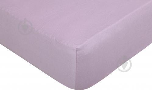 Простынь на резинке трикотажная 140x200 см розовый Songer und Sohne - фото 1