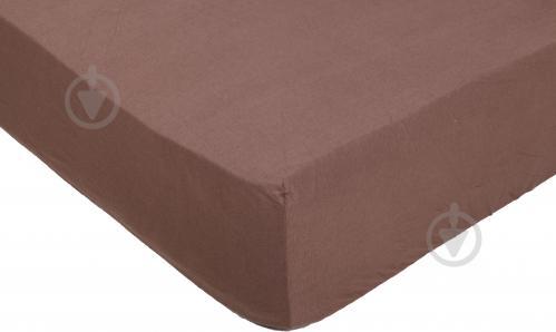 Простынь на резинке трикотажная 140x200 см шоколадный Songer und Sohne - фото 1