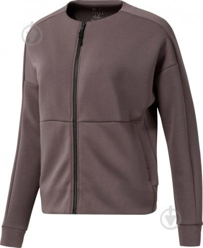Джемпер Reebok TS Full-Zip Coverup D93920 р. L темно-серый