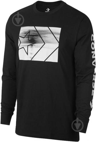 Футболка Converse Beach Long Sleeve Tee р. L черный 10007205-001