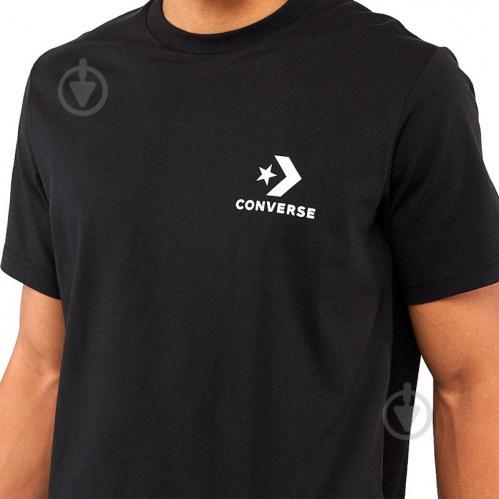 Футболка Converse Left Chest Star Chevron Tee 10007886-001 S черный - фото 4