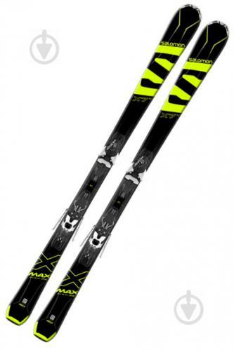 Лыжи Salomon X-Max X7 Ti L40053100 + Mercury L80 B L39879600 162 см черный с желтым