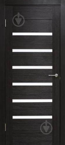 Дверне полотно ПВХ ОМіС Лагуна з білим склом ПГО 800 мм венге