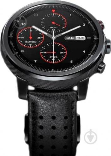 Смарт-часы Amazfit Stratos + black (444221) - фото 1