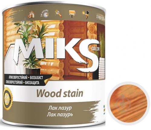 Лак-лазурь MIKS Color сосна полуглянец 0,7 кг - фото 1