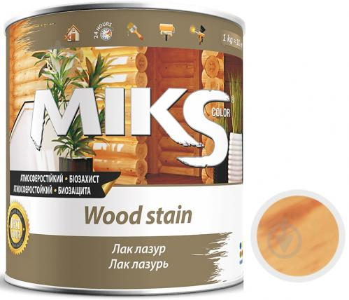 Лак-лазурь MIKS Color безцветная полуглянец 0,7 кг - фото 1