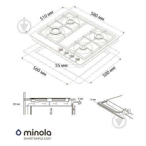 Варильна поверхня Minola MGM 61421 I - фото 9