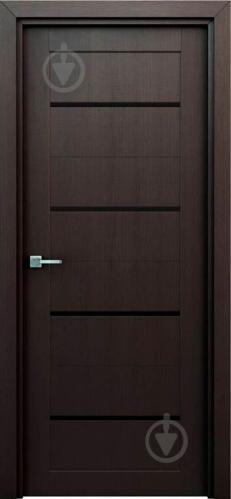 Дверне полотно Інтер'єрні двері Оріон штучний шпон ПО 800 мм венге