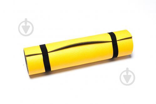 Коврик для занятий фитнесом Verdani Атлетика 1800х600х9 мм Желтый - фото 1