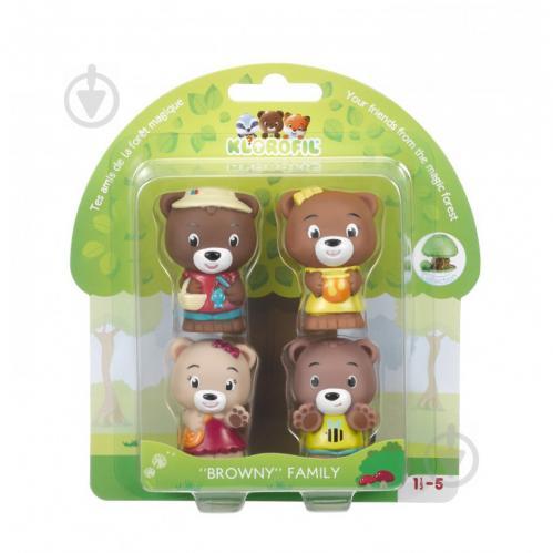 Игровой набор Klorofil Семья медведей 4 персонажа 700300F - фото 1