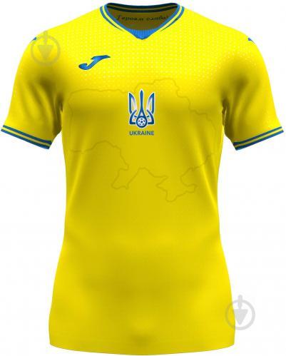 Футболка формы сборной Украины 2021 Joma FED. FUTBOL UCRANIA SHORT SLEEVE T-SHIRT AT102404A907 р.M желтый - фото 1