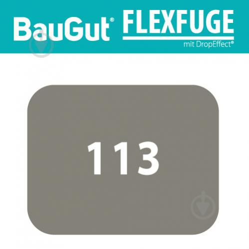 Фуга BauGut flexfuge 113 2 кг темно-серый - фото 2